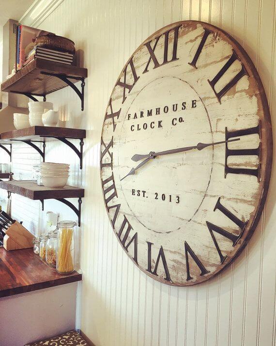 Dining Room Wall Decor Ideas- An Old-Fashioned Clock for a Farmhouse Look - Cabritonyc.com