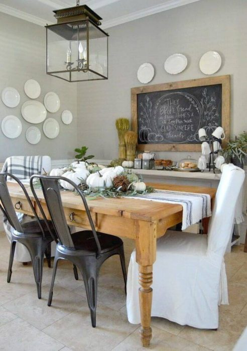 A Country-Inspired Look with Simple Dining Room Wall Decor Ideas - Cabritonyc.com