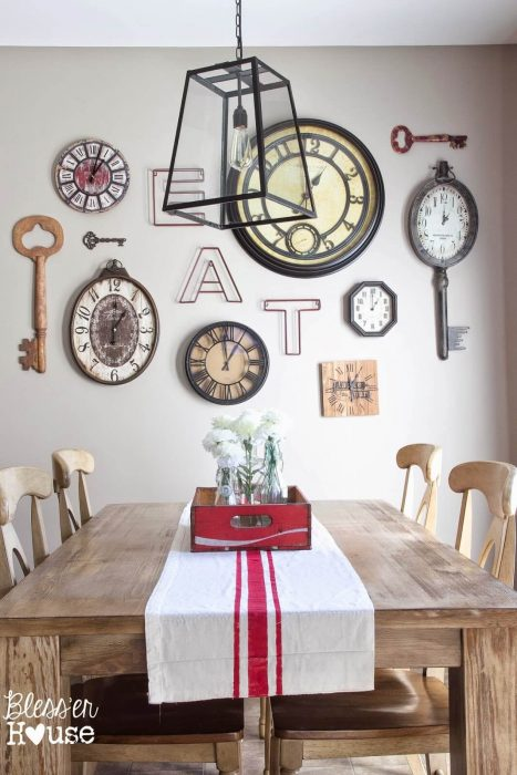 A Dining Room Wall Arrangement with a Lot of Character - Cabritonyc.com