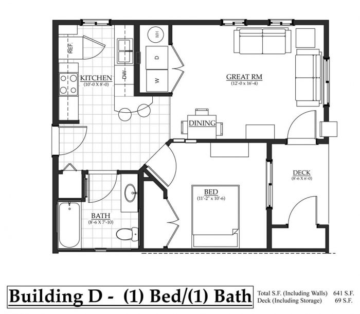 Barndominium Floor Plans 1 Bed 1 Bath