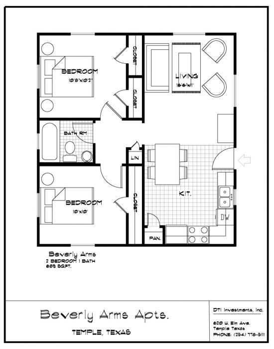 Barndominium Floor Plans 2 Bed 1 Bath