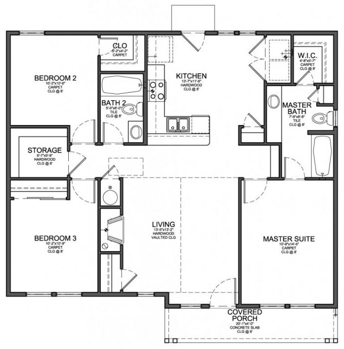 Barndominium Floor Plans 3 Bed 2 Bath new