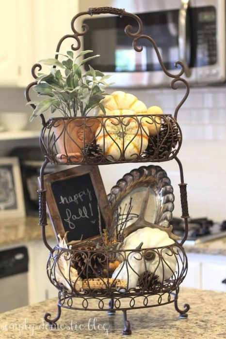 French Country Decor Ideas - Cafe Style Wire Display Basket - Cabritonyc.com
