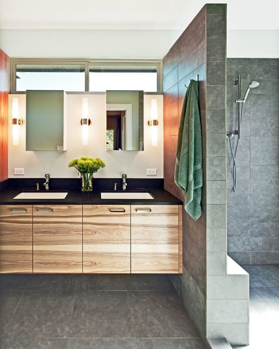 Bathroom Mirror Ideas - Two Rectangular Mirrors 2 - Cabritonyc.com