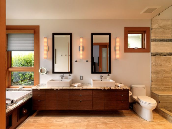 Bathroom Mirror Ideas - Two Rectangular Mirrors 3 - Cabritonyc.com