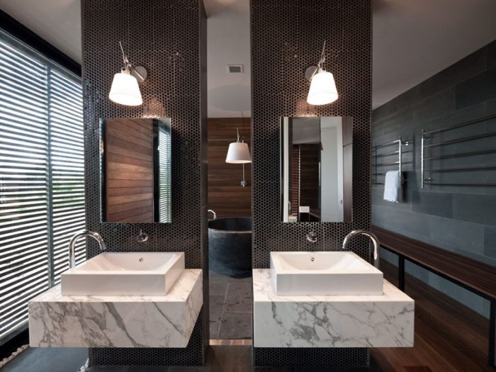 Bathroom Mirror Ideas - Two Rectangular Mirrors 4 - Cabritonyc.com