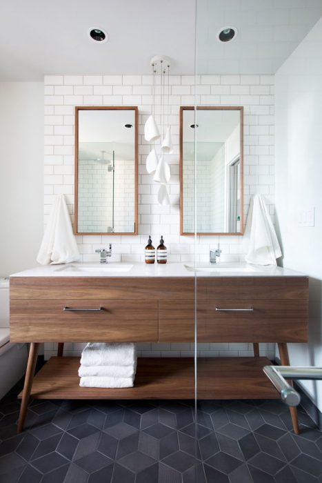 Bathroom Mirror Ideas - Two Rectangular Mirrors 5 - Cabritonyc.com