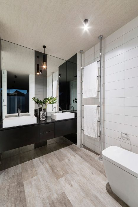 Bathroom Mirror Ideas - Two Rectangular Mirrors 1 - Cabritonyc.com