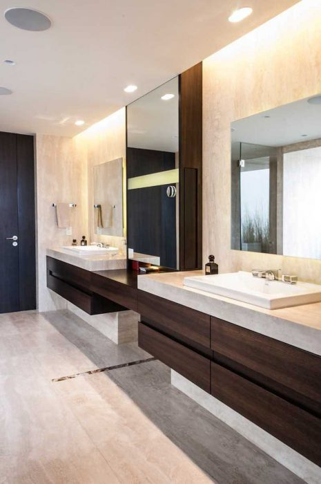Bathroom Mirror Ideas - Two Square Mirrors - Cabritonyc.com