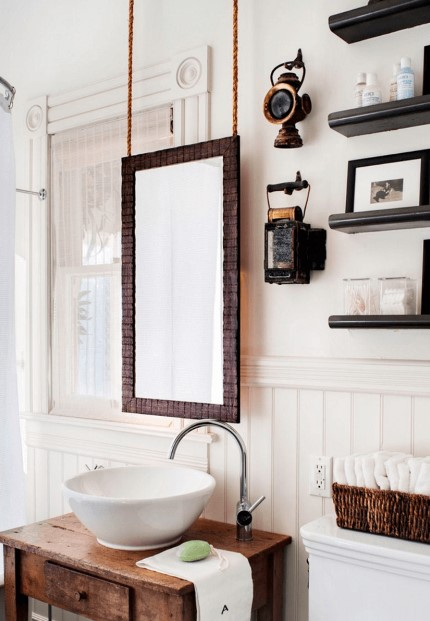 Hanging Wood Bathroom Mirror Ideas - Cabritonyc.com