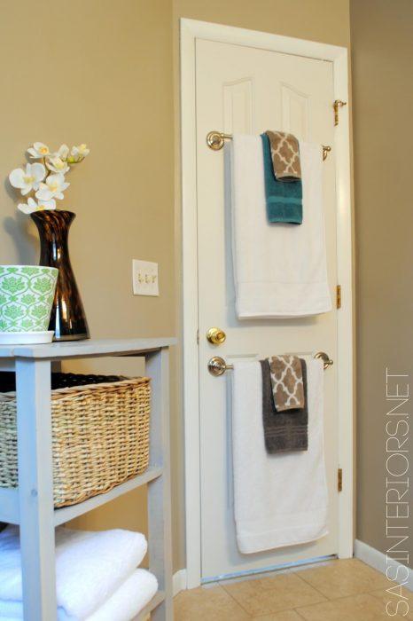 Bathroom Storage Ideas - Double Towel Rods - Cabritonyc.com