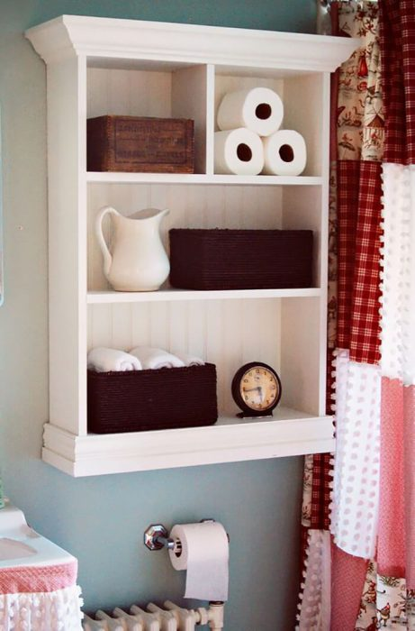 Bathroom Storage Ideas - Simple Shelving - Cabritonyc.com