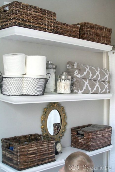 Bathroom Storage Ideas - Wood, Metal and Glass - Cabritonyc.com