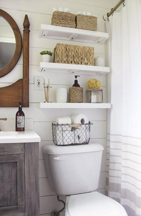 Bathroom Storage Ideas - Floating Shelving - Cabritonyc.com