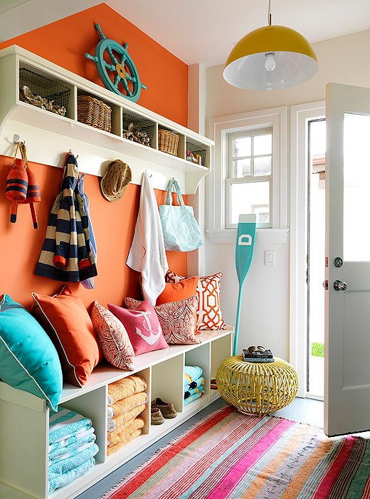 Accent Wall Ideas - Brighten with Tangerine - Cabritonyc.com