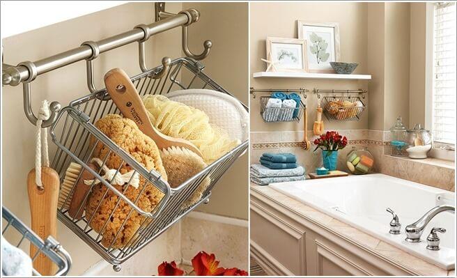 Bathroom Storage Ideas - Hanging Baskets - Cabritonyc.com