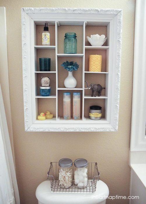 Bathroom Storage Ideas - Fun with Shadow Boxes - Cabritonyc.com