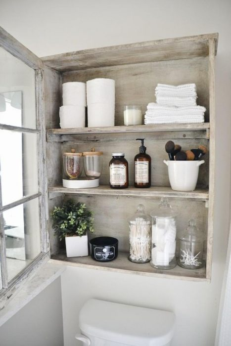 Bathroom Storage Ideas - Floating Display Cases - Cabritonyc.com