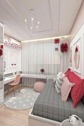 Teen Girl's Bedroom Ideas - How To Add A Bright Color To Your Teen Bedroom - Cabritonyc.com