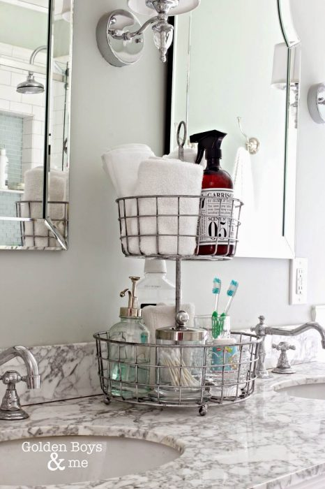 Bathroom Storage Ideas - Revolving Rack - Cabritonyc.com