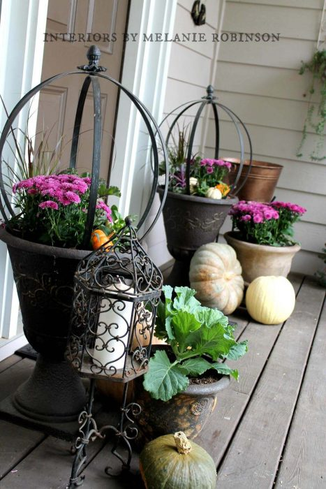 Front Door Flower Pots Ideas - Oil Rubbed Bronze Mum Planters - Cabritonyc.com