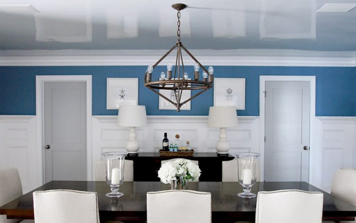 Low Basement Ceiling Ideas - Use a high-gloss finish for the ceiling - Cabritonyc.com