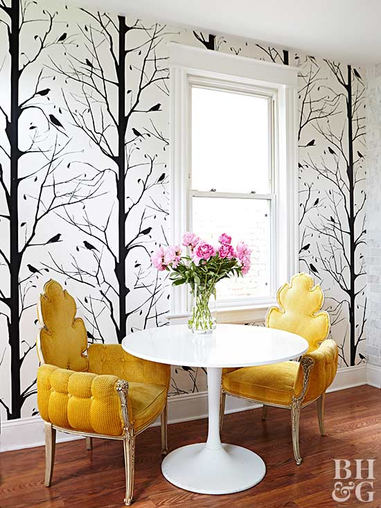 Accent Wall Ideas - Wallpapered - Cabritonyc.com