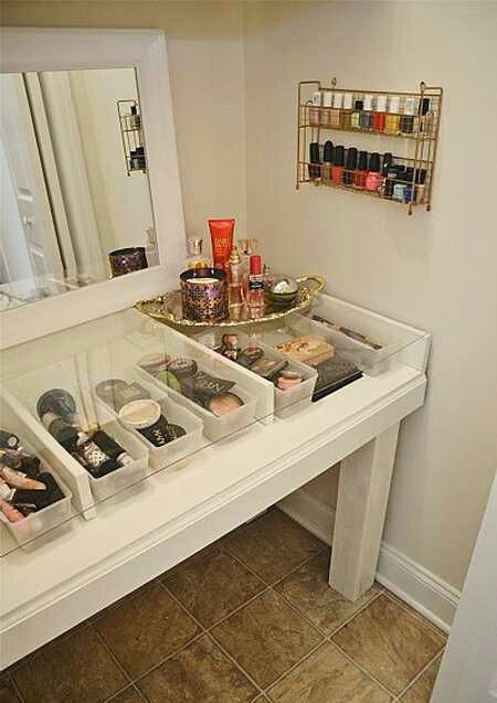 DIY Makeup Room Ideas Glass Top - Cabritonyc.com