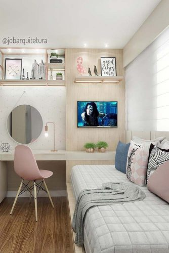 Teen Girl's Bedroom Ideas - Modern Teen Bedroom With Throw Pillows - Cabritonyc.com