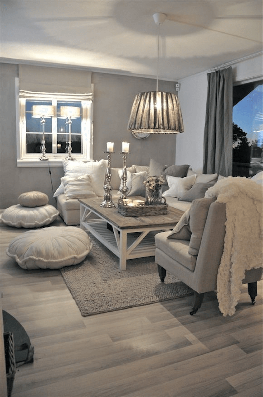 Rustic Chic Living Rooms Ideas - Fluffy Soft Glow Driftwood - Cabritonyc.com