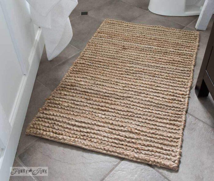 Farmhouse Bathroom Decor Ideas - Rustic Sisal Farmhouse Bathroom Rug - Cabritonyc.com