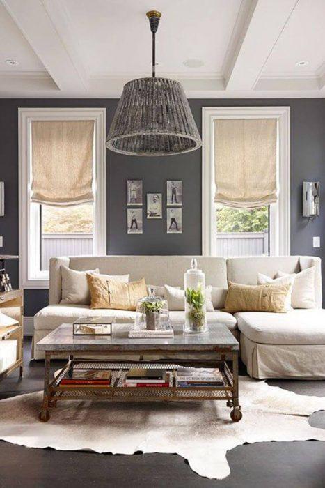 Rustic Chic Living Rooms Ideas - The Hunter's Living Room - Cabritonyc.com