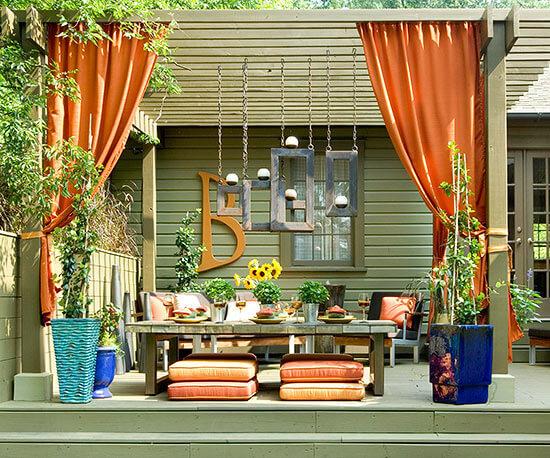 Backyard Landscaping Ideas - Consider Curtains for Backyard Privacy - Cabritonyc.com