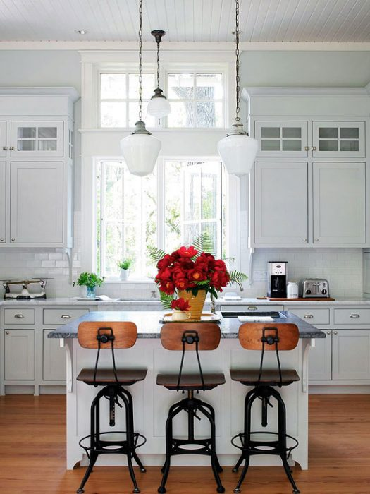 Kitchen Lighting Ideas - Old-Fashioned Glass Light Fixture - Cabritonyc.com