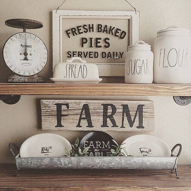 Farmhouse Kitchen Decor Design Ideas - Old Country Store Hand-Lettered Labeling - Cabritonyc.com