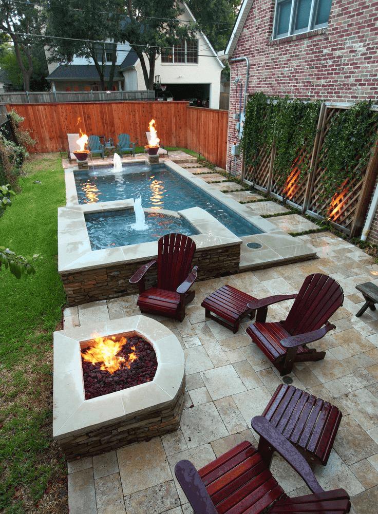 Backyard Landscaping Ideas - Fire and Water - Cabritonyc.com