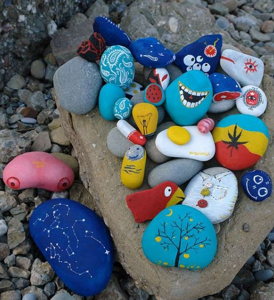 Rock Painting Ideas Random