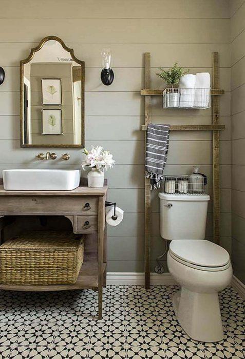 Farmhouse Bathroom Decor Ideas - Design with Wood Accents - Cabritonyc.com