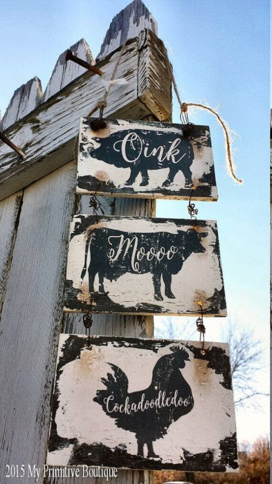 Farmhouse Kitchen Decor Ideas Oink Moo Cockadoodledoo Welcome Sign