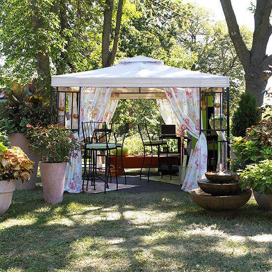 Backyard Landscaping Ideas - Pop Up a Pavilion - Cabritonyc.com