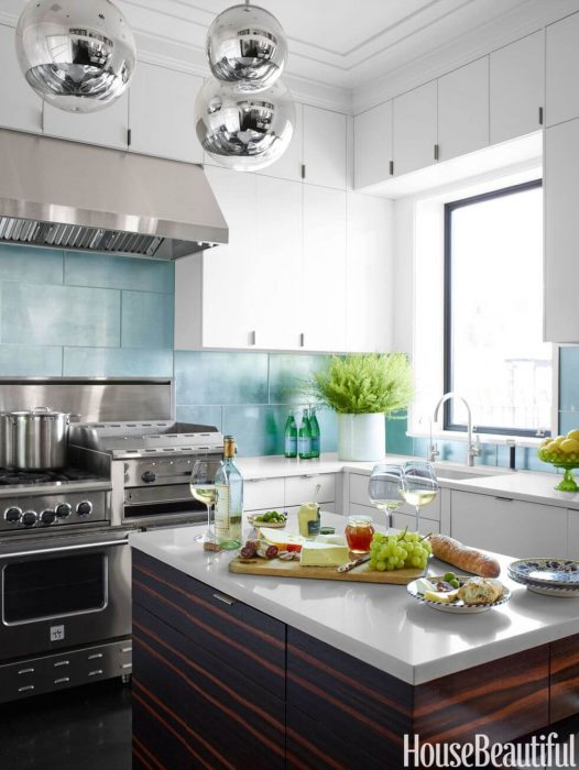Kitchen Lighting Ideas - Silver Orbs - Cabritonyc.com